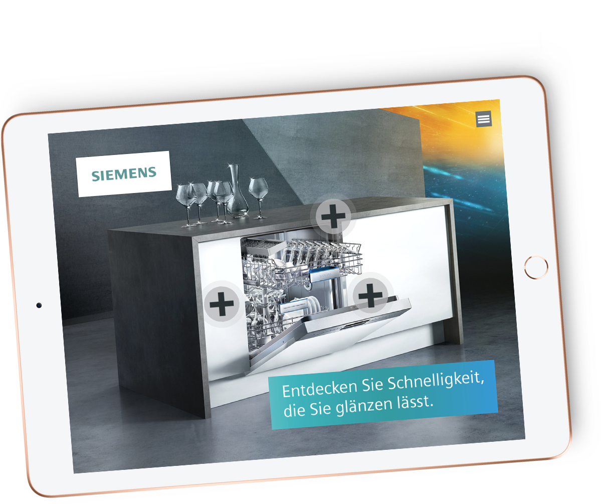 iPad mit Siemens topTeam App