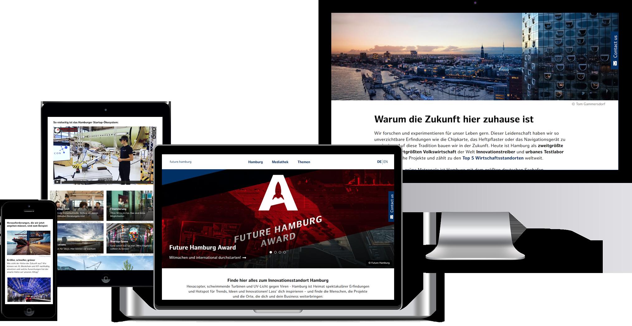 Responsive Ansicht Future Hamburg